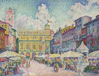 Marché de Vérone (La place aux