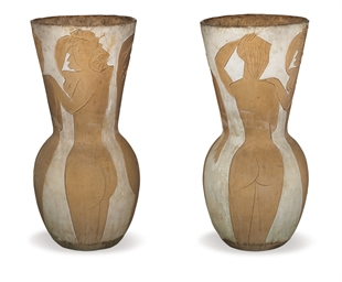 Grand vase aux femmes nues