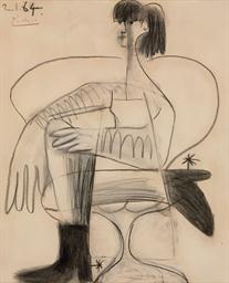 Femme assise en costume de che