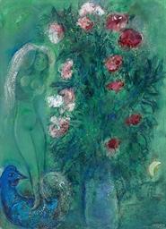 Bouquet d'oeillets aux amoureu
