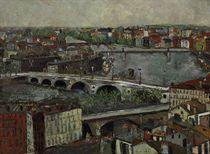 La Garonne et les ponts à Toulouse (Haute-Garonne)