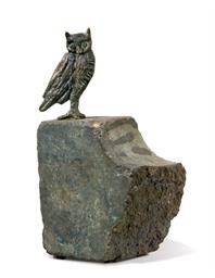 Hibou sur une pierre de l'atel