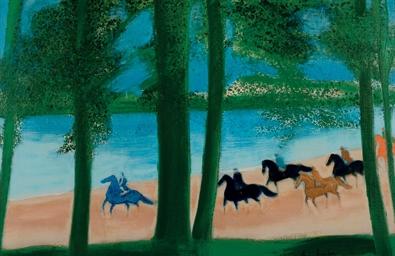Cavaliers devant la mer