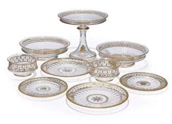 A LOBMEYER GILT GLASS DESSERT-SERVICE
