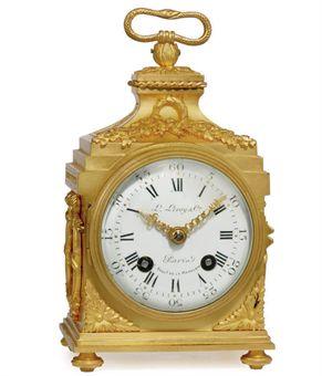 a french gilt bronze striking pendule d 39 officier le roy cie paris no 23823 forth quarter. Black Bedroom Furniture Sets. Home Design Ideas