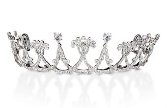 A BELLE EPOQUE DIAMOND TIARA, BY CARTIER