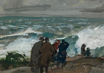 """Approaching Storm (Study for """"Gray Gale"""")"""