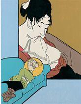 Utamaro Washing, Bumstead Sleeping