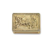 A REGENCY SILVER-GILT SNUFF BOX