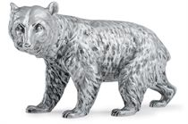 A GERMAN SILVER MODEL OF A BEAR