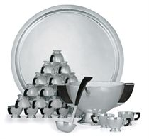 A MEXICAN SILVER PUNCH SERVICE FOR TWENTY-FOUR