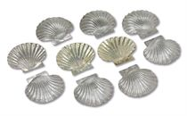 TEN RARE CHARLES II SILVER AND SILVER-GILT SHELL-FORM DISHES