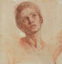 Study for the head of Christ in 'The Shadow of Death'