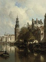 A View of the Montelbaanstoren on a Sunlit Day, Amsterdam