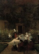 Amsterdam Orphan Girls in a Sunlit Garden