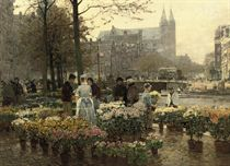 Selling Flowers on the Flower Market, Amsterdam