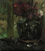 Gemberpot met klimroosjes en floxen: Ginger Jar with Climbing Roses and Phloxes
