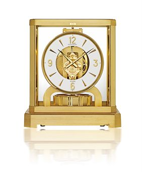 JAEGER-LECOULTRE, ATMOS VIII R  GILT BRASS AND GLASS BAROMETRIC DRIVEN CLOCK