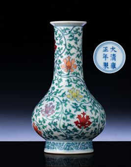 AN EXTREMELY RARE MING-STYLE DOUCAI VASE