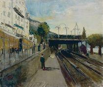 Bahnübergang in Territet, 1936-37