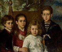 Portrait of the children of Paul Pavlovich Demidoff, 2nd Prince of San Donato (1839-1885)