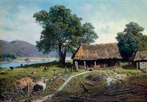 A riverside farm