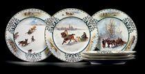 A Set of Six Porcelain Plates