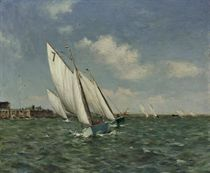 Orford White Wings racing on the River Alde