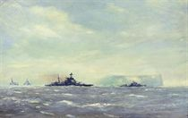 H.M.S. Malaya and Force H leaving Gibraltar