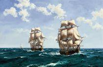 Swedish warships at sea