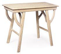A LIMED OAK SIDE TABLE