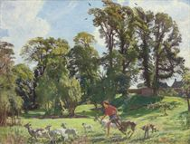 Mary in the gardens, Dunshay (Drat them Goats!)
