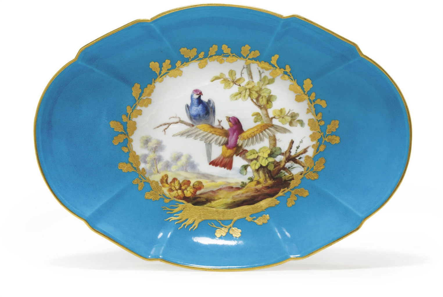 a sevres porcelain shaped oval dish from the  u0026 39 rohan