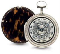 MARKWICK MARKHAM.  A SILVER AND TORTOISESHELL TRIPLE CASE VERGE WATCH MADE FOR THE TURKISH MARKET