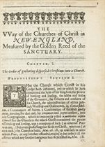 COTTON, John (1594-1652) The Way of the Churches of Christ i