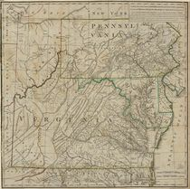 [VIRGINIA] A Map of the Country Between Albemarle Sound and