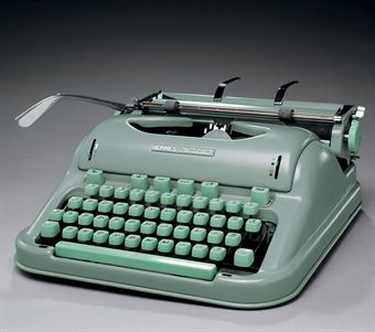 KEROUAC, Jack. Hermes 3000 manual typewriter (model no. 3337316) USED BY JACK KEROUAC. 13in. long, 12½in. wide, 5¾in high. In original protective case, with cleaning implements. In good working condition.