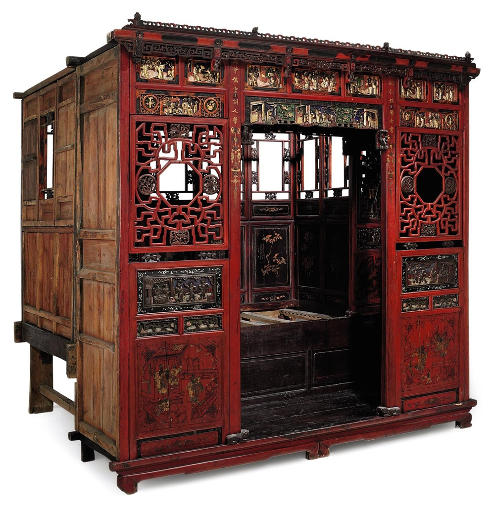 A chinese opium bed early 20th century furniture for China furniture bed