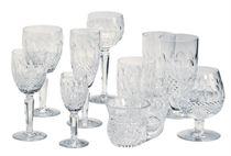 AN EXTENSIVE ASSEMBLED IRISH GLASS SERVICE,