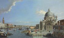 The Grand Canal, Venice, with a procession entering the Santa Maria della Salute