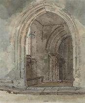 An abbey doorway