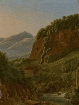 Paysage rocheux avec une rivière