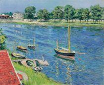 La Seine à Argenteuil, bateaux au mouillage