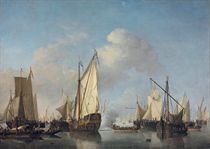 A States Yacht and other vessels in a very light air