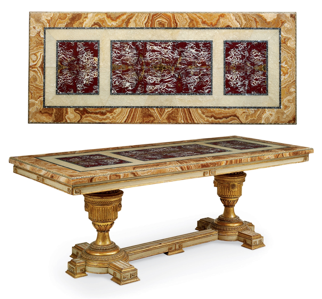 AN ITALIAN PARCEL GILT CREAM PAINTED MARBLE AND ALABASTER  : d5339176a from www.christies.com size 1104 x 1024 jpeg 776kB