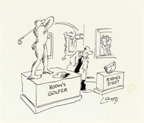 'Rodin's golfer'