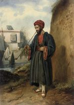 An Arab smoking