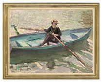 Girl in a boat, Regents Park