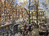 Traffic on a Dutch canal