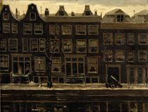 Canal houses in winter